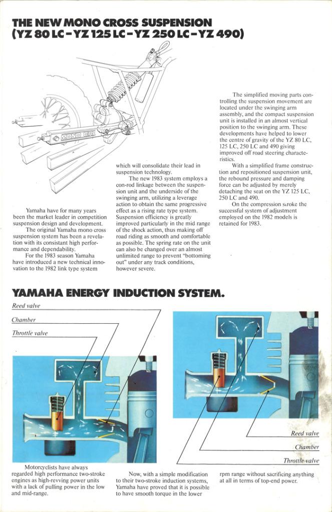 Gamle motorsykkelbrosjyrer YZ-range-1983-7-h1080