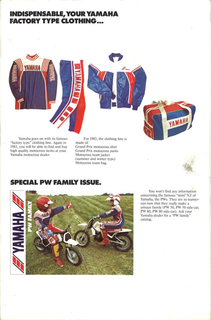 Gamle motorsykkelbrosjyrer YZ-range-1983-9-h1080