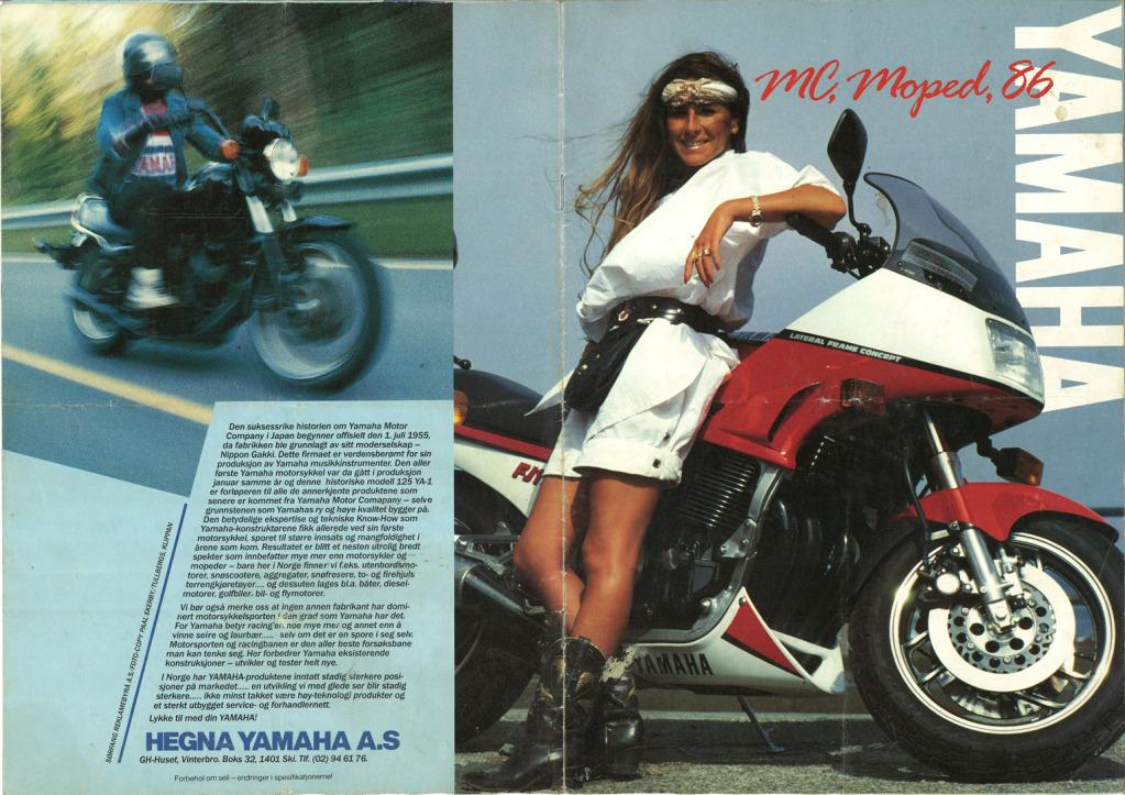 Gamle motorsykkelbrosjyrer - Page 2 Yamaha-models-Norway-1986-1