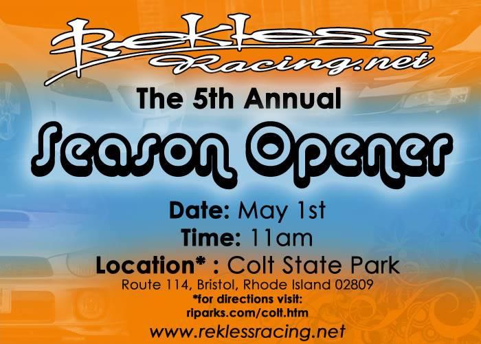 Reklessracing.net's 5th annual season opener 5/1/11 11AM Colt Stat Park Flyerforum