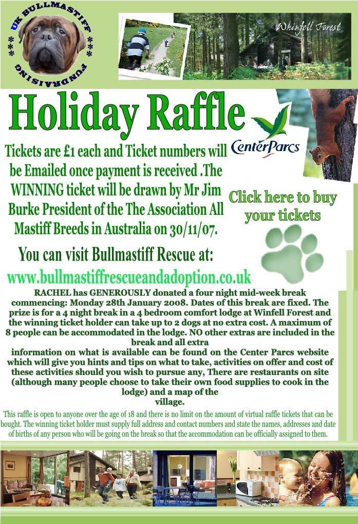 Bullmastiff Rescue - Raffle for a Center Parcs break Final-posterweb-size3