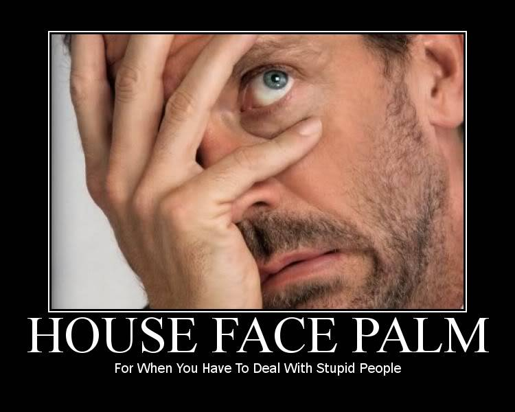 Temporary absence HouseFacePalm-1