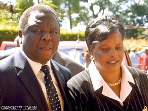 Eske Mugabee gen yon men kache nan lanmo sa a? Art.tsvangirai2.afp.gi