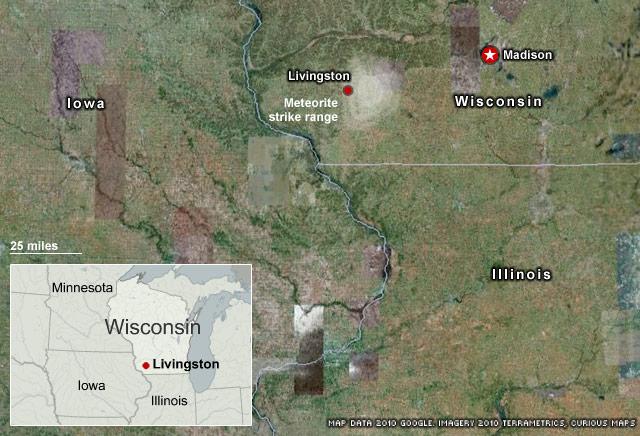 Météore impressionnant dans le ciel américain le 15 avril 2009 Stacks.wisconsin.meteor