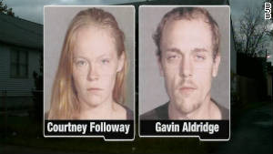 Police: Parents Courtney Followay and Gavin Aldridge, arrested after giving away toddler/Parents will not be charged 111028105824-parents-give-away-toddler-story-body