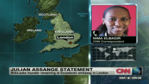 Ecuador says U.K. have threatened to storm its' Embassy to get Assange 120629040605-elbagir-assange-declaration-00001401-story-body