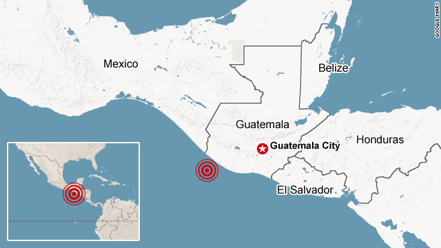 Eartquake Reports: 3 reports from Guatamala,Vancouver Island and California 121107045859-guatemala-quake-map-story-top