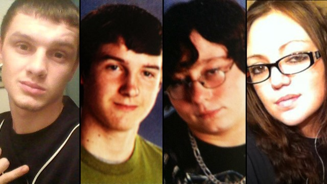 Dominic Davis 17, Steven Presley 17, John Lajeunesse 16, & 22 Year Old Mom Rikki Jacobsen Found Shot To Death In Car Along Rural Tennessee Road~ Jacob Allen Bennett & Brittany Lina Yvonn Moser Indicted For The Murders 130913202920-tn-victims-horizontal-gallery