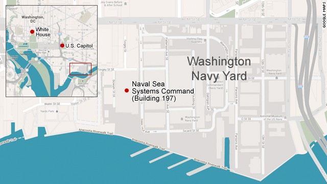 12 Killed At Washington Navy Yard Shooting Rampage~ Dead Suspect Identified As Aaron Alexis, a 34-Year-Old Military Contractor From Texas  130916091423-navy-yard-shooting-map-story-top