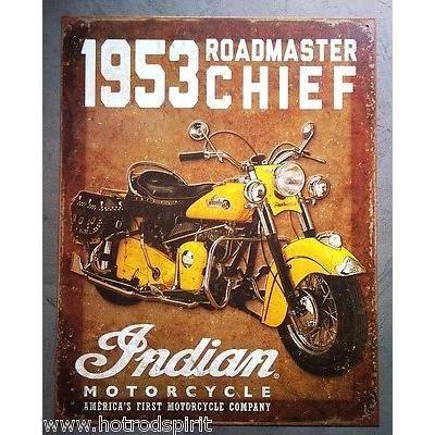 affiches anciennes ou pubs indian Plaque-publicitaire-indian-53-roadmaster-chief