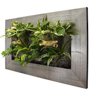 conseil déco chambre à coucher Cadre-vegetal-naturel-58x37cm-alu-brosse-avec-re