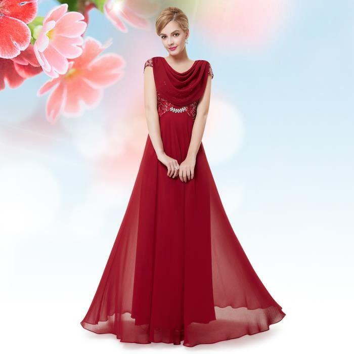 [Jeu] Association d'images - Page 18 Robe-longue-drapee-rouge-de-soiree-paillete-femme