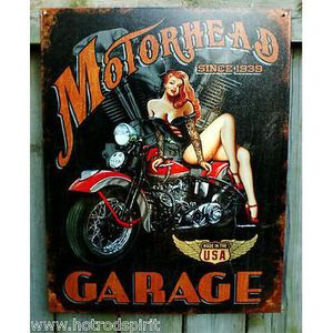 Deco plaques fer ou plaque emaillee  Plaque-publicitaire-pin-up-harley-davidson-indi