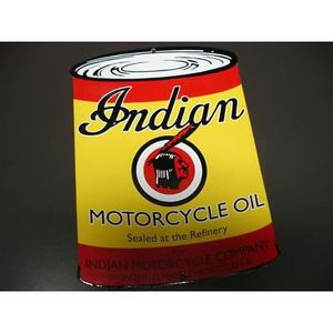 affiches anciennes ou pubs indian Plaque-emaillee-indian-motorcycle-genuine-30cm