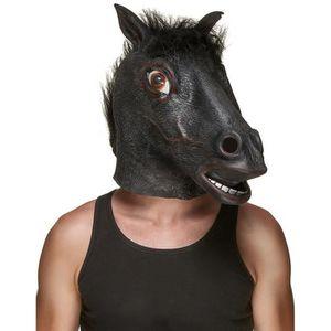 Le combat continue pour toi, mon ami - Masque-latex-tete-de-cheval-noir-adulte-230847