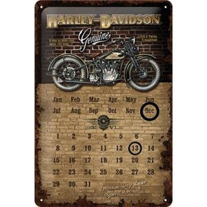 Deco plaques fer ou plaque emaillee  Plaque-metal-harley-davidson-calendrier-perpetuel