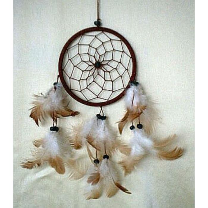 Attrape rêves....Dreamcatcher Attrape-reves-marron-diametre-11-5-cm-dreamcatcher