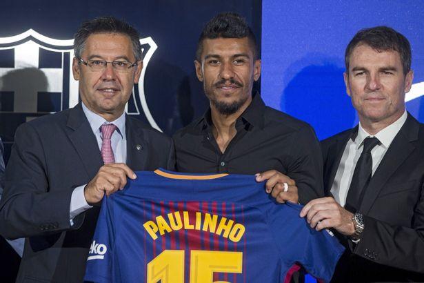 Paulinho FC-Barcelona-presents-its-new-player-Paulinho-Spain-17-Aug-2017