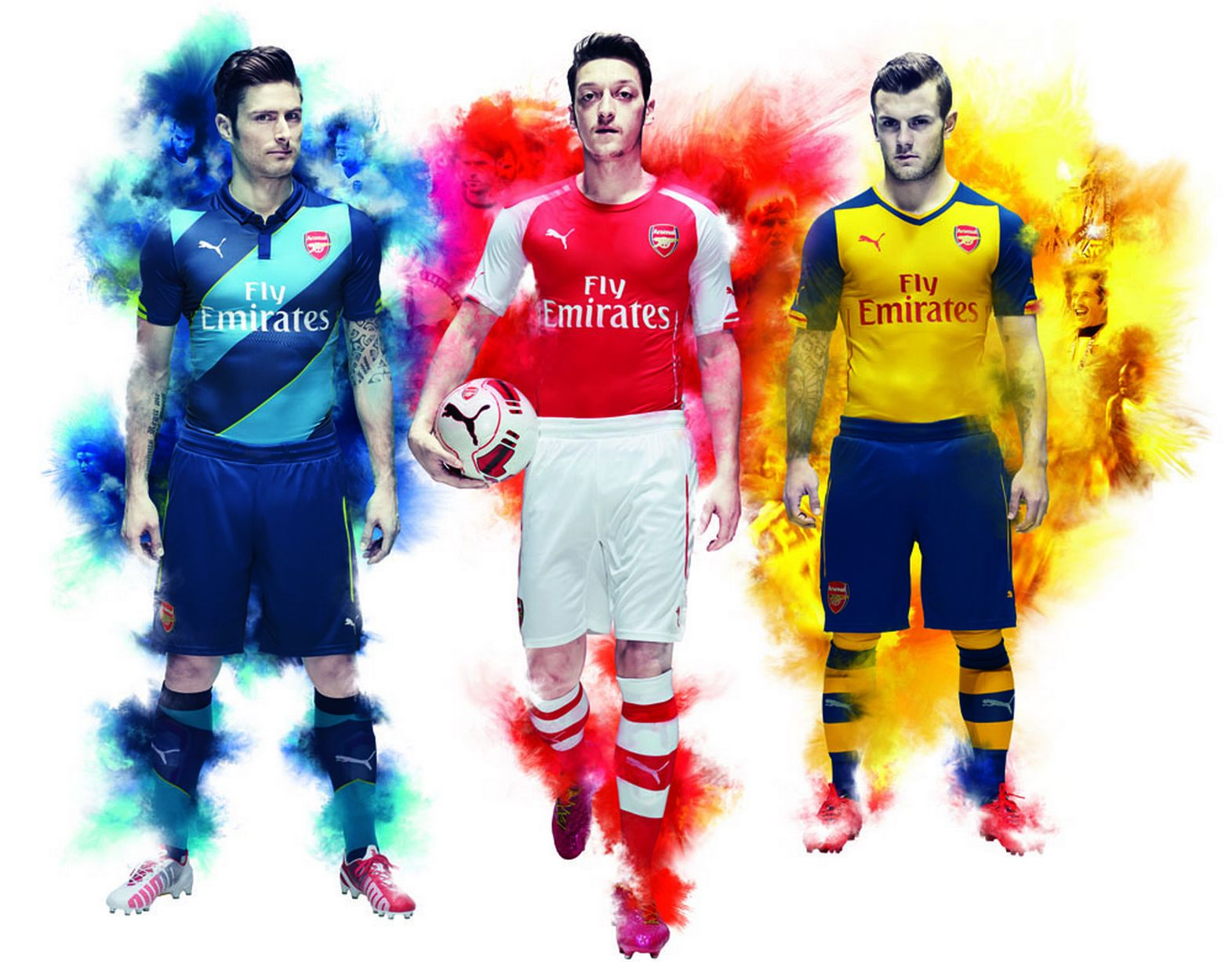 Arsenal FC thread - Page 5 PUMA-launch-Arsenal-2014-15-Kit-Trilogy_Giroud_Ozil_Wilshere_High-Res