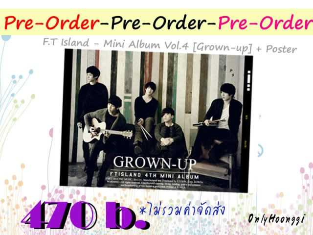 "Pre-Order"" FT island Mini Album Vol.04 Grown Up"" PreOrder01"