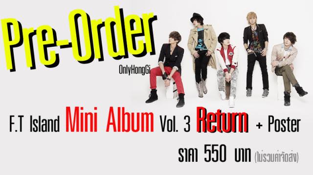 "Pre-Order""F.T Island - Mini Album Vol. 3 Return"" Return01"