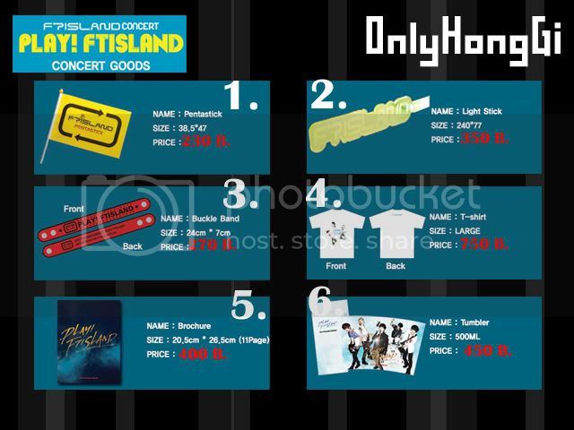 """Pre-Order """"PLAY!  FT island Concert Goods"""" Play01"""