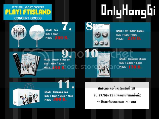 """Pre-Order """"PLAY!  FT island Concert Goods"""" Play02"""