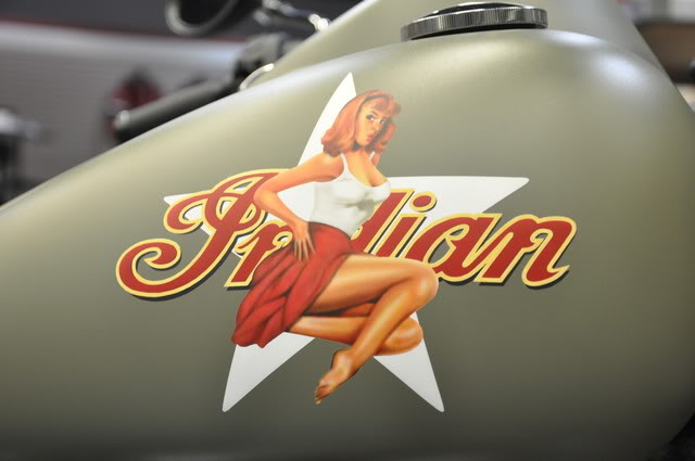 """2010 Indian Chief """"Bomber"""" Special Edition Blonde-HairedDebbie"""