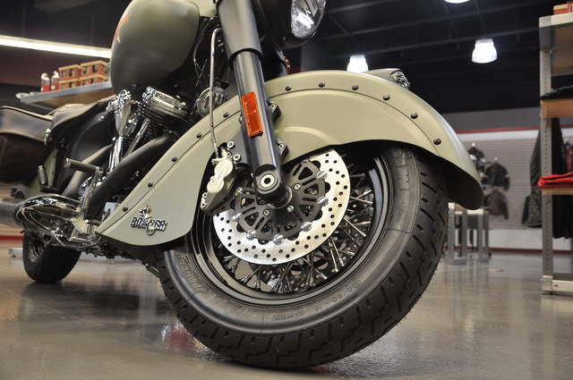 """2010 Indian Chief """"Bomber"""" Special Edition Bomberfrontwheel"""