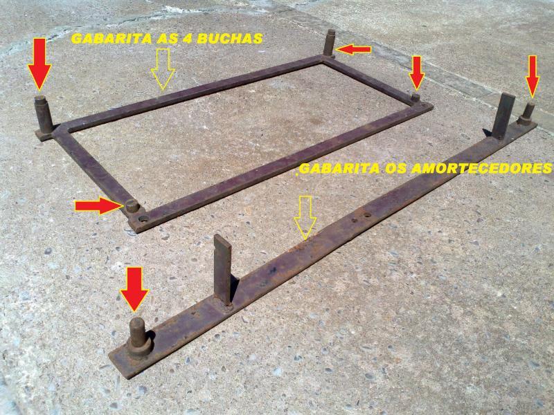 Gabaritar quadro de suspensão - medida correta Gabarito4