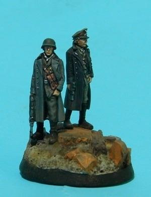 Oficiales alemanes (pequeño diorama con figuras (28mm) de Rafa Ramis) P6220039web