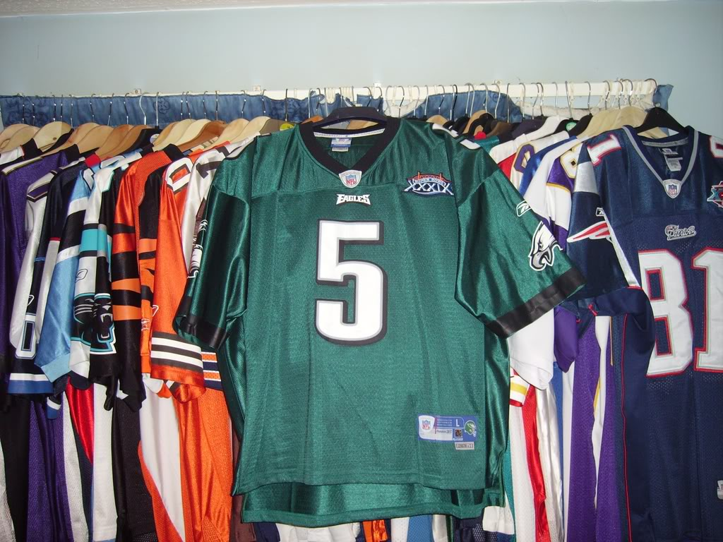 My Super Bowl Jersey Collection McNabbSBXXXIX