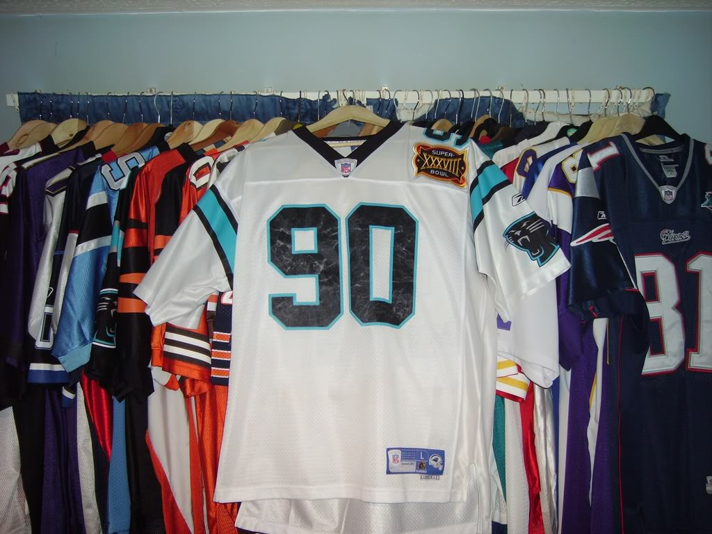 My Super Bowl Jersey Collection PeppersSBXXXVIII