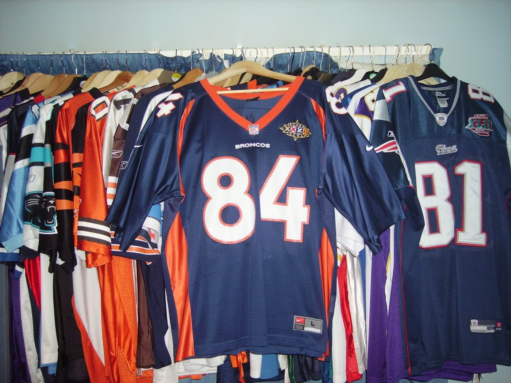 My Super Bowl Jersey Collection SharpeSBXXXII