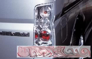 LED taillamp for cars and van.. E25_crystal_taillamp