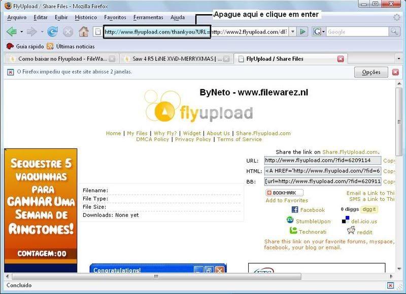 Burlando Flyupload - Cliques Nunca Mais Flyupload2