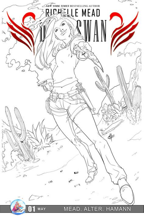 Adaptation en comics de Cycne Noir de Richelle Mead RichelleMead01incentivecover