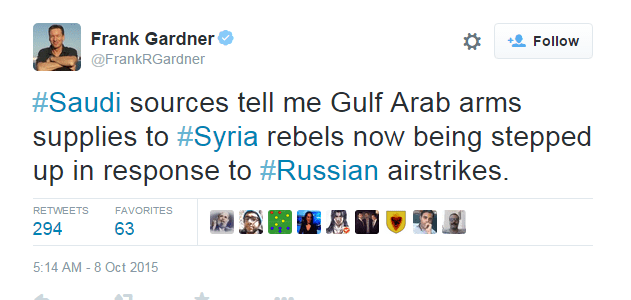 """السعوديه """"صعدت """" تزويد الثوار السوريين باسلحة نوعية اثر التدخل الروسي Frank"""