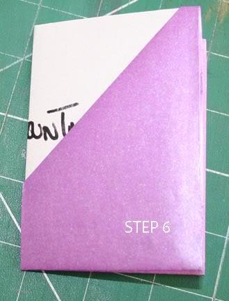 POCKET TAG BOOK (single A4 sheet) STEP6