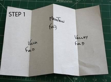 POCKET TAG BOOK (single A4 sheet) Step1