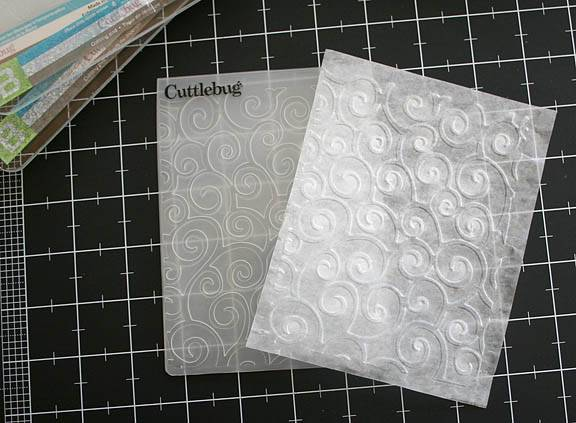 Wax Paper and your Cuttlebug Step1