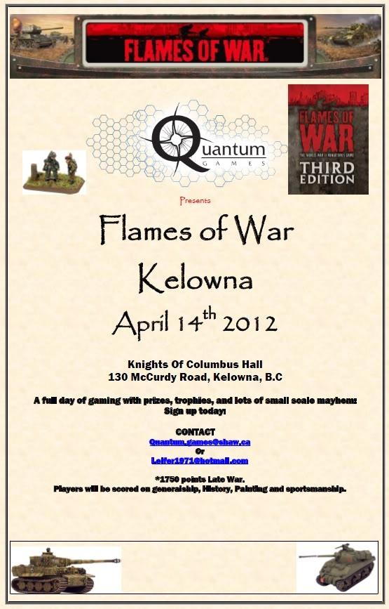 Kelowna April 2012 1750 Late War coverage. Tourney
