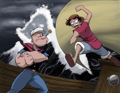 Random Pic Luffy-vs-popeye