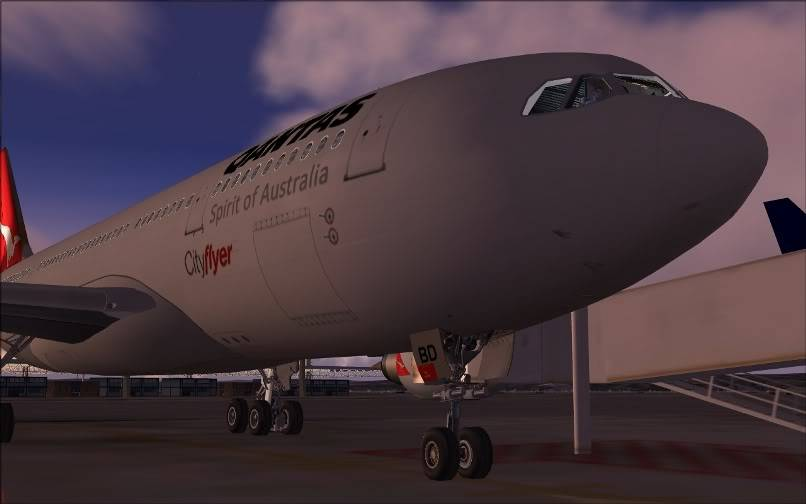 [FS9] SBGR - SUMU / A330 Qantas FS2004-001