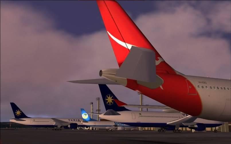 [FS9] SBGR - SUMU / A330 Qantas FS2004-003