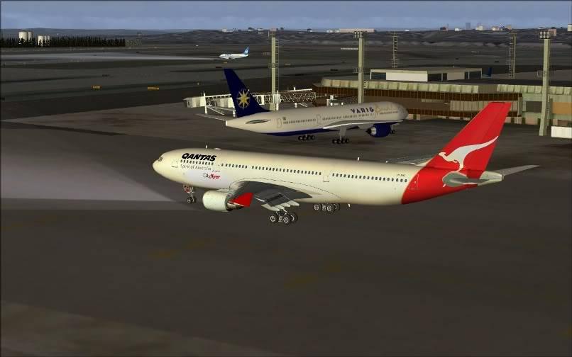 [FS9] SBGR - SUMU / A330 Qantas FS2004-005