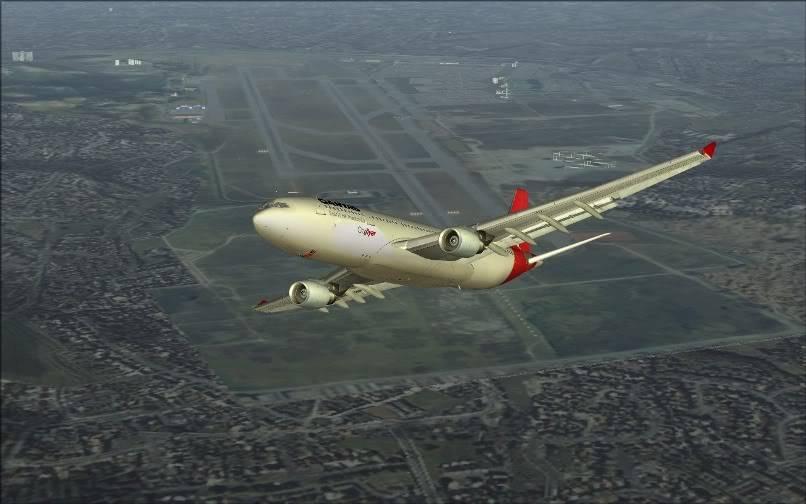 [FS9] SBGR - SUMU / A330 Qantas FS2004-012