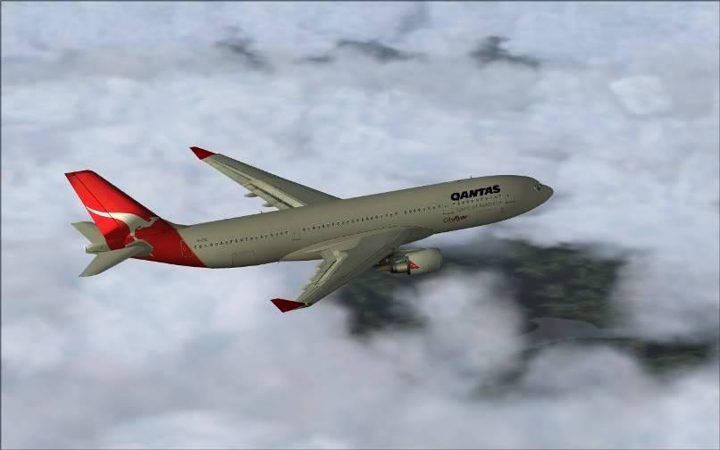[FS9] SBGR - SUMU / A330 Qantas FS2004-014