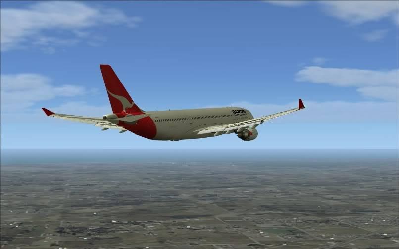 [FS9] SBGR - SUMU / A330 Qantas FS2004-020