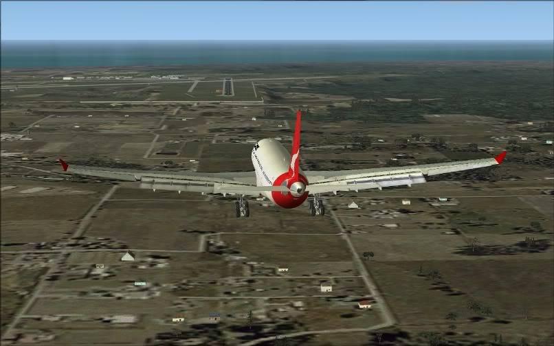 [FS9] SBGR - SUMU / A330 Qantas FS2004-026